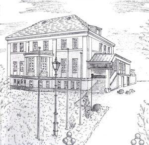 Skizze vom Logenhaus der Friedrich zur Bruderkette, Freimaurer in Berlin